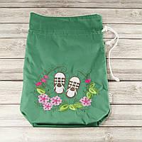 Мешочек для хранения и упаковки одежды, для путешествий и организации (кеды, зеленый)