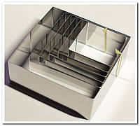 Набор квадратных форм для выкладки гарниров и десертов 6 предметов