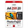 Фотобумага Videx PPSA4 260/20 шелковисто-глянцевая 20 листов