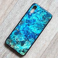 TPU чехол Malachite для Samsung Galaxy A70 (SM-A705) (сине-зеленый)