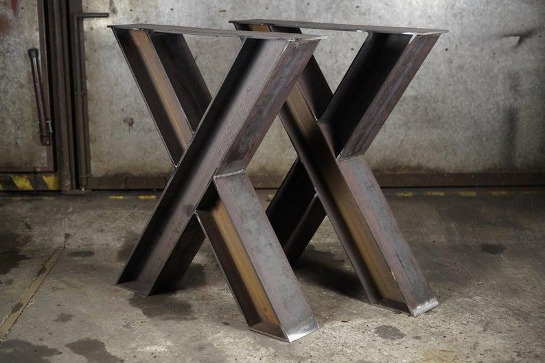 """Металлические опоры для стола """"Heavy-X MAX"""" в ресторан некрашеная сталь"""