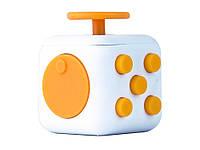 Игрушка антистресс Кубик  Белый с желтым