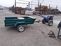 Прицеп мотоблочный 1ПМБ-0,7 с колесами (1900х1150х390 мм) грузоподъемность 650 кг.