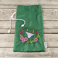 Мешочек для хранения и упаковки одежды, для путешествий и организации (плавки, зеленый)