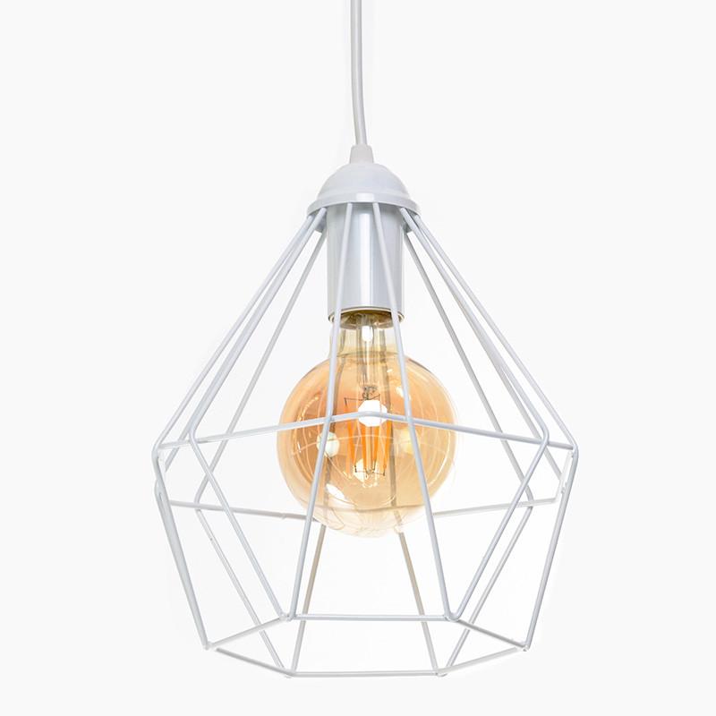 Светильник подвесной на одну лампу Crystal P235 Белый (1337)
