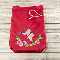 Мешочек для хранения и упаковки одежды, для путешествий и организации (сапоги, красный)