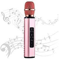 Караоке микрофон Losso K6 Premium розовое золото (стерео)