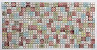 Панель ПВХ Регул Мозаїка Блик червоний 956х480 мм