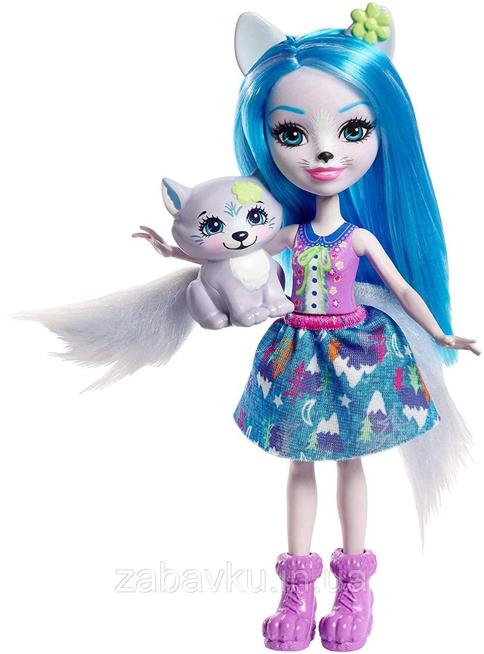 Лялька Енчантімалс Вовк Вінслі Enchantimals Winsley Wolf Doll & Trooper Figure