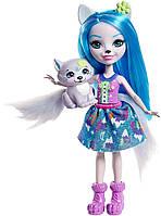 Лялька Енчантімалс Вовк Вінслі Enchantimals Winsley Wolf Doll & Trooper Figure, фото 1