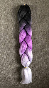 Канекалон цвет черн/т.фиолет/сер