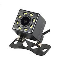 Автомобильная камера заднего вида Lesko JF-018 универсальная с светодиодной подсветкой 8 LED для авто