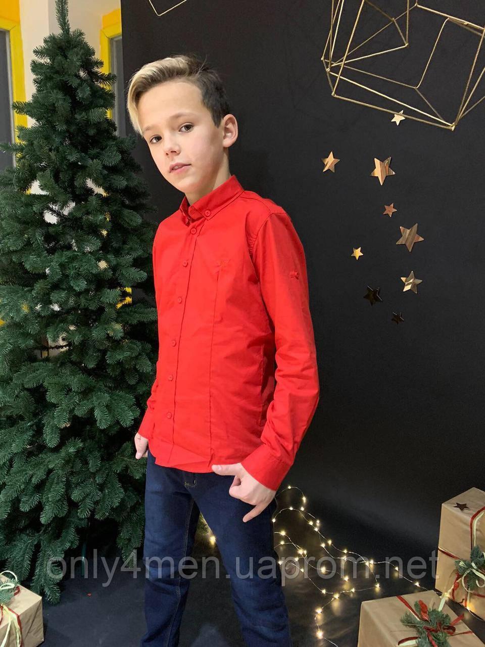 Рубашка для мальчиков на 11-16 лет