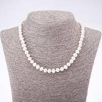 Бусы и ожерелья с натуральным жемчугом