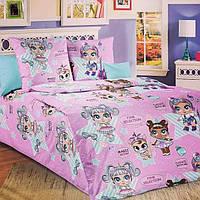 Комплект детского постельного белья подростковый Лол глянец