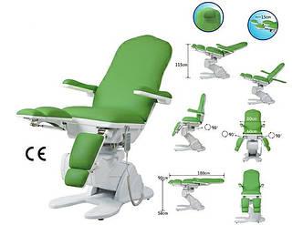 Кресло педикюрное кресло - кушетка электрическая с раздвижными ножками ZD 896D цвет белый
