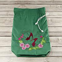 Мешочек для хранения и упаковки одежды, для путешествий и организации (туфли, зеленый)
