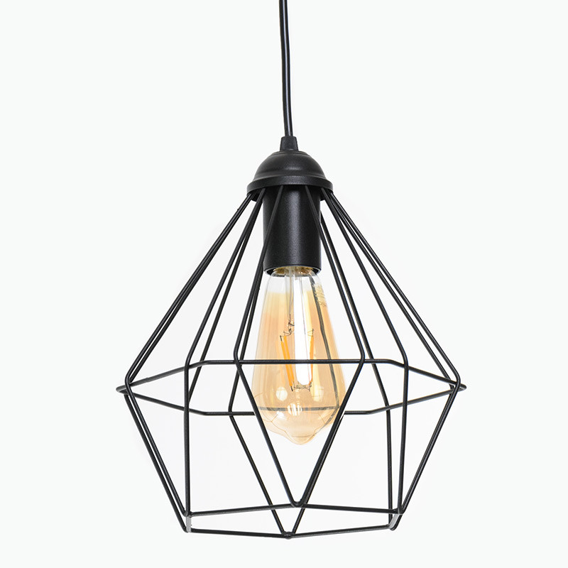 Светильник подвесной на одну лампу Crystal P235 Черный (1336)