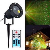 Лазерный звездный проектор уличный Star Shower Laser Light 66 с пультом