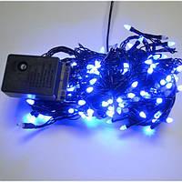 Новогодняя гирлянда 100 ЛЕД конус синяя