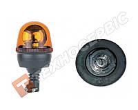 Маячок проблесковый оранжевый 12вольт на шток (тип Socket безпроводное) комбайны CLAAS, спецтехника, тралы