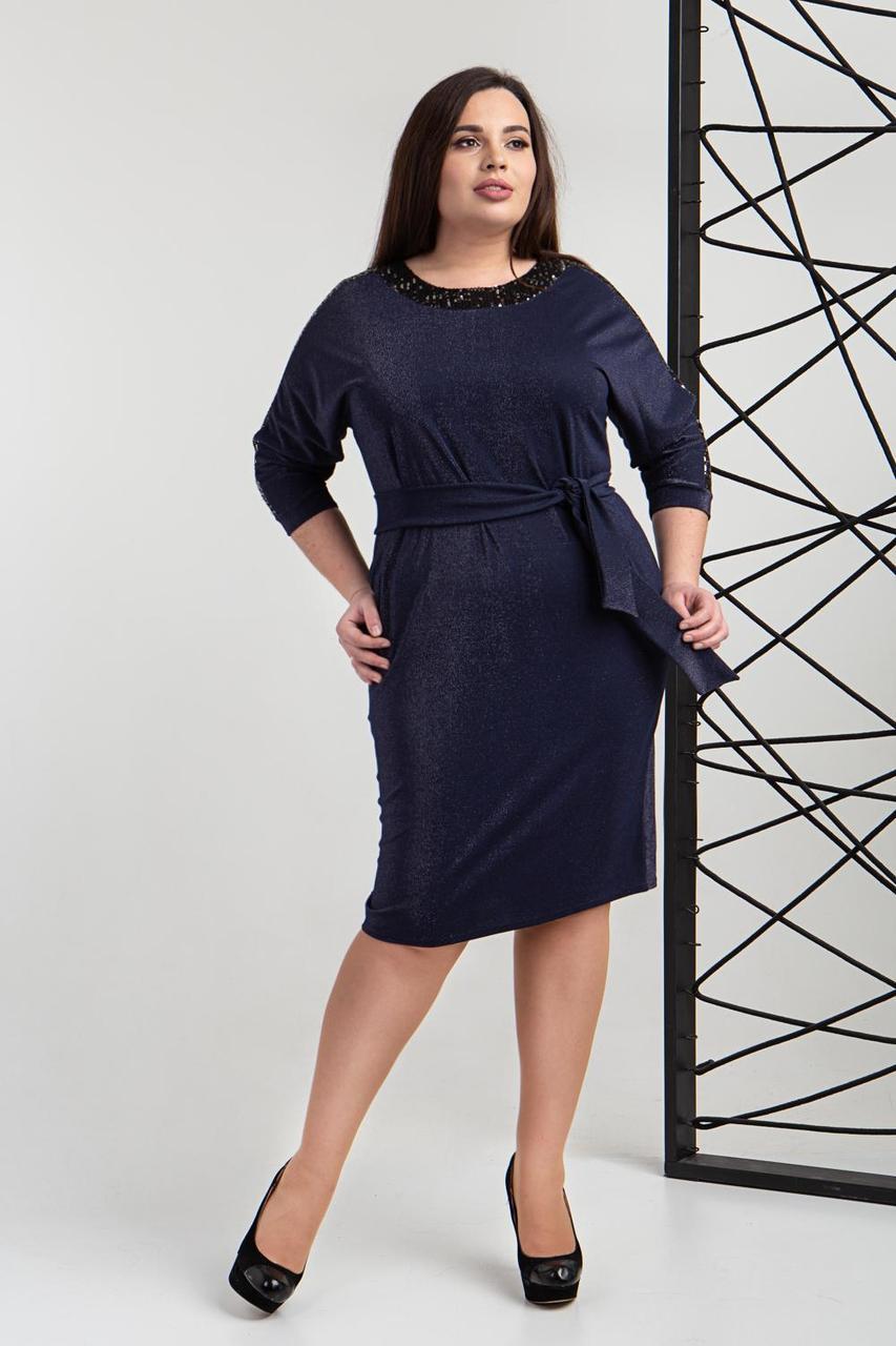Сукня жіноча 739 - 3 синього кольору