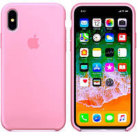 Silicone case Iphone Xs max розовый Pink Мягкий чехол