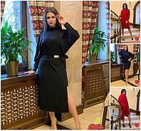 Р 50-60 Ангоровое сукню зі знімною спідницею Батал 20794, фото 1