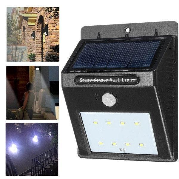 Вуличний світильник з датчиком руху на сонячній батареї 20 LED
