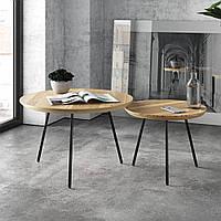 """Кофейный журнальный столик в стиле лофт """"Дорофея"""" размер M"""