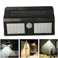 Подвійний прожектор-світильник на сонячній батареї з датчиком руху, 40 LED