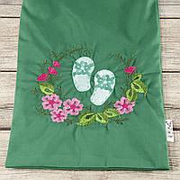 Мешочек для хранения и упаковки одежды, для путешествий и организации (шлепки, зеленый)