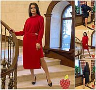 Р 50-60 Ангоровое платье со съемной юбкой Батал 20794-1, фото 1