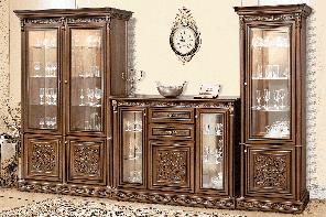 """Меблі у вітальню  """"Тоскана Нова"""" від Скай (горіх італійський з золотою патиною)"""
