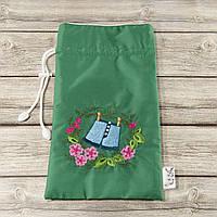 Мешочек для хранения и упаковки одежды, для путешествий и организации (шорты, зеленый)