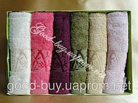 """Комплект кухонных полотенец с бамбуковой вышивк Сestepe """"Jasmin Gold""""  bamboo 6шт: 30х50 Tурция"""
