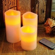 Свечи - набор 3 шт, с пультом ДУ