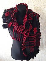 Женский шарф с мехом (цв 02)
