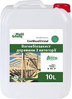 MultiChem. Антипірен-антисептик ConWood Crystal Euro з маркуванням, 10л. Пропитка дерева,огнебиозащита, фото 1