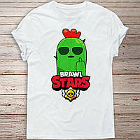Детская футболка Спайк Бравл Старс (Spike Brawl stars)