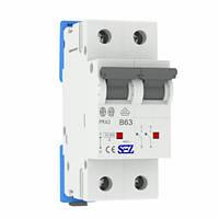 Автоматичний вимикач SEZ PR62 В63А 2P 10kA