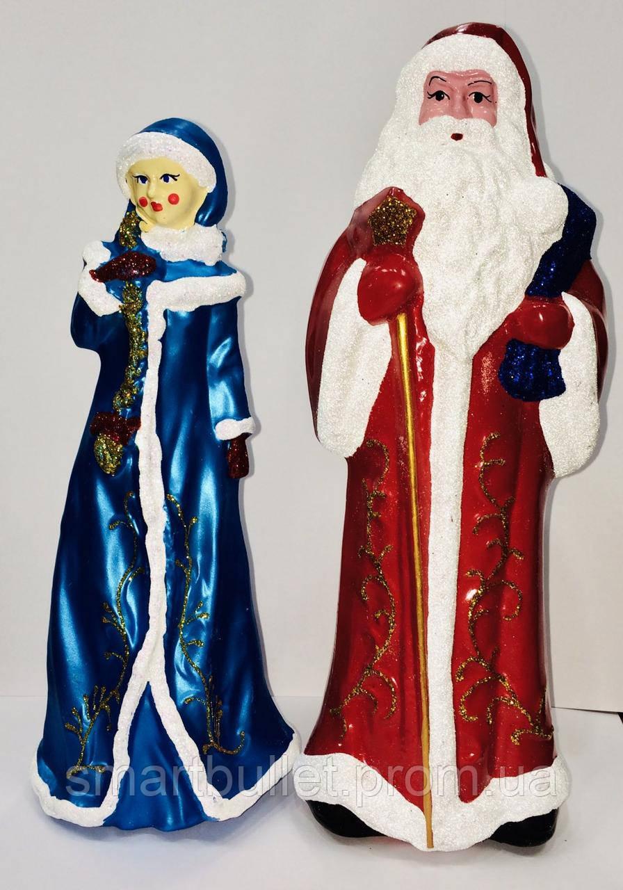 Дед Мороз и снегурочка пластик