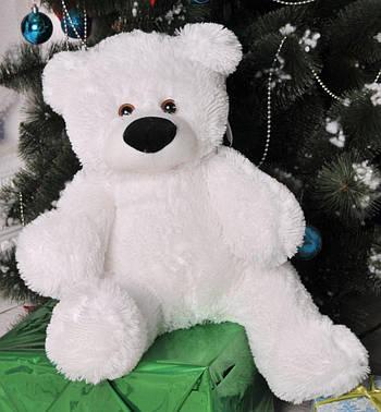 М'яка іграшка ведмедик Бублик 55 см Білий