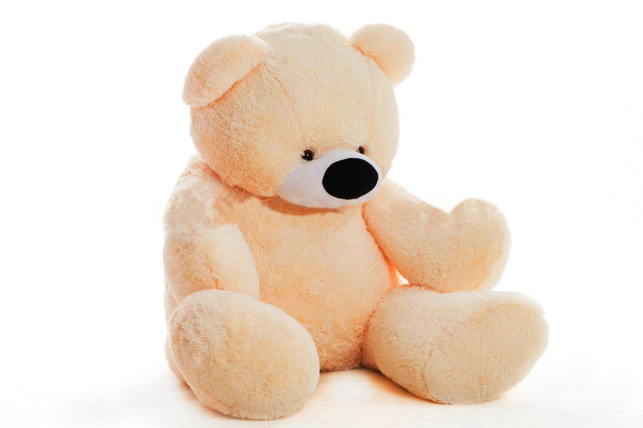 Мягкая игрушка мишка Бублик 55 см Персиковый