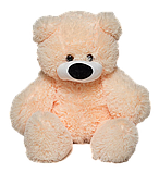 М'яка іграшка ведмедик Бублик 55 см Персиковий, фото 2