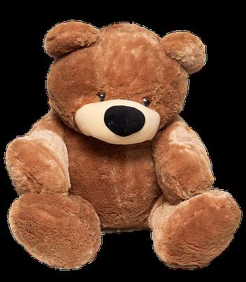 М'яка іграшка ведмедик Бублик 110 см Коричневий