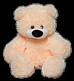 М'яка іграшка ведмедик Бублик 110 см Персиковий, фото 2