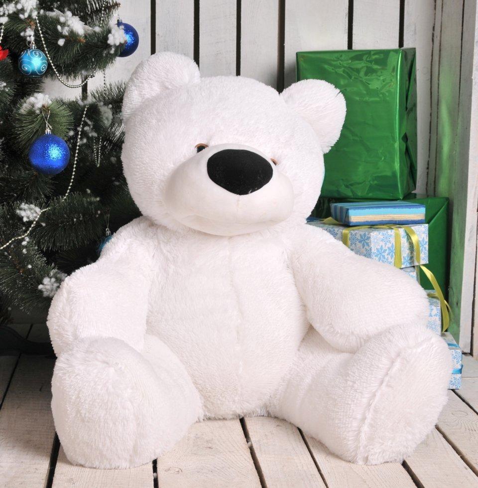 Мягкая игрушка мишка Бублик 200 см Белый
