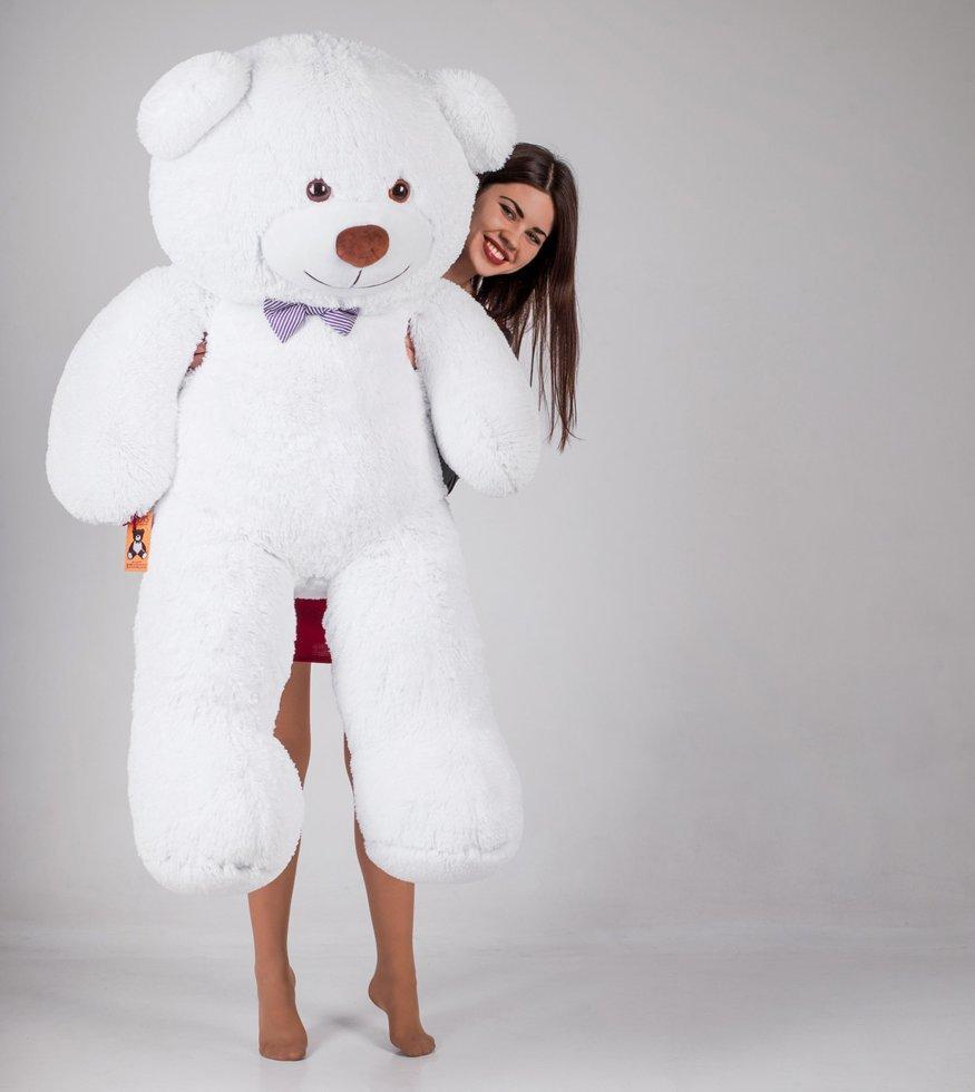 Большой плюшевый медведь Джеральд 165 см Белый