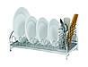 Сушка настольная Lemax для посуды с держателем приборов, хром (LF-514)